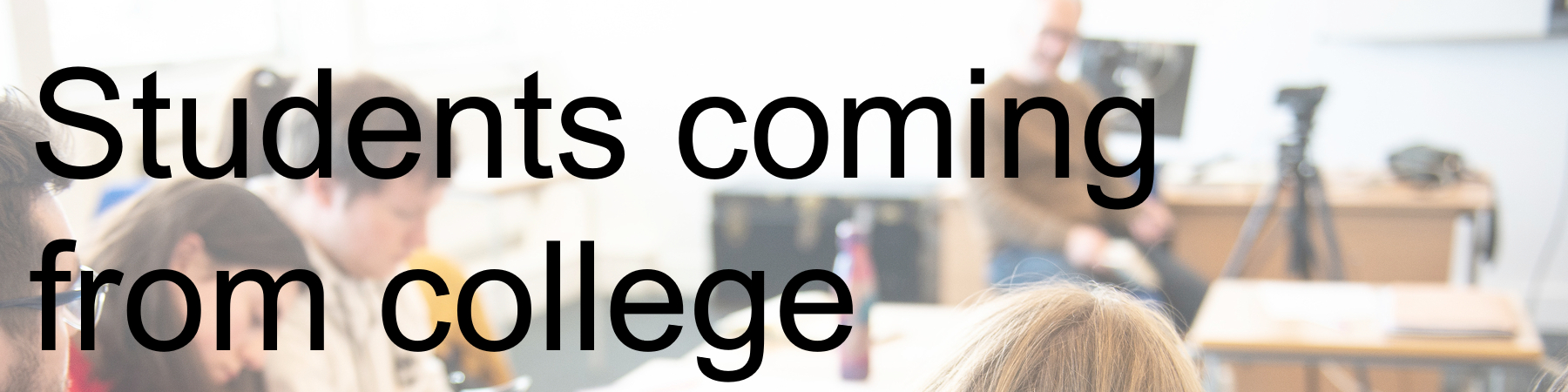 students coming from college