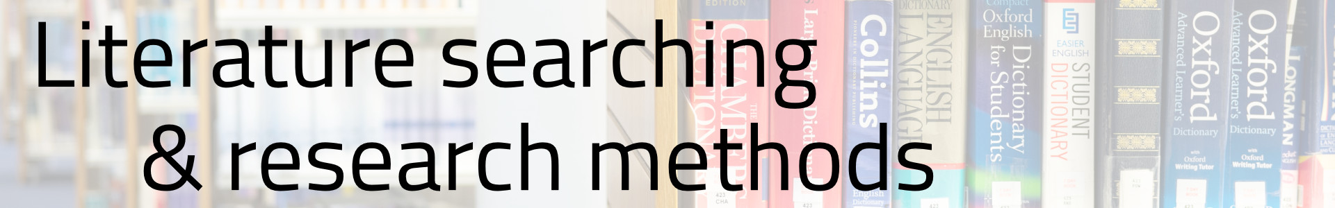 Literature searching & research methods
