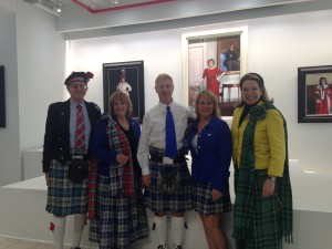 Looking terrific in tartan with Clan Napier!