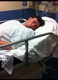 Josh in hospital