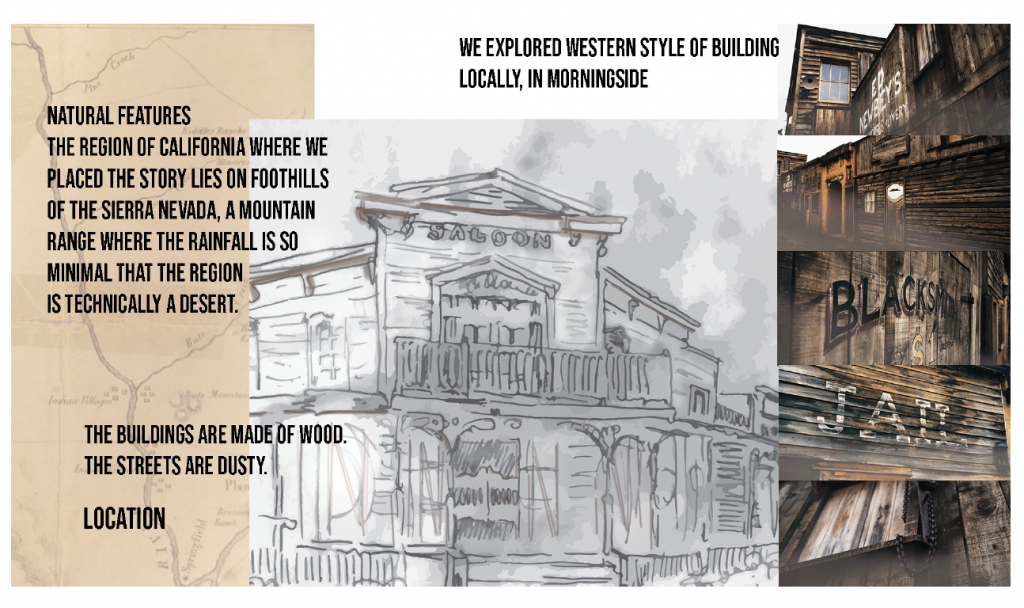 Flint Concept Book Wild West mood board