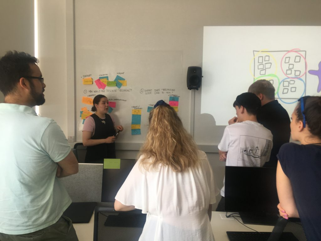 Celina works with the group to identify key areas for development.