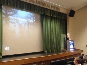Professor Isabella van Elferen delivers her keynote presentation