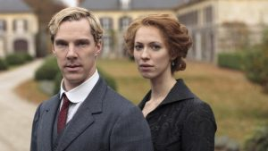 Christopher (Benedict Cumberbatch) and Sylvia Tietjens (Rebecca Hall) in the BBC/HBO Parade's End (2013).