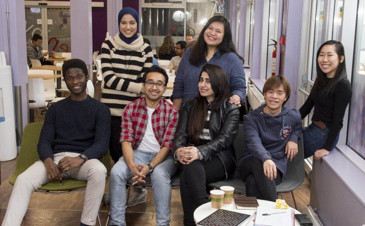 Group photo of international student ambassadors