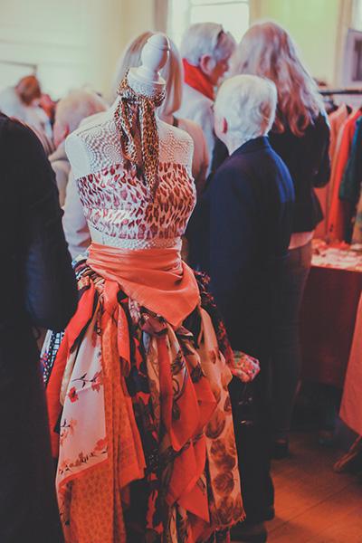 Vintage dress on manikin