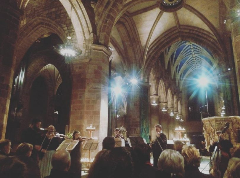 Vivaldi's Four Seasons concert inside St Giles Cathedral.