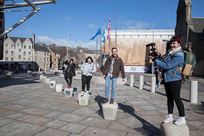 International Student Ambassadors outside The Scottish Parliament