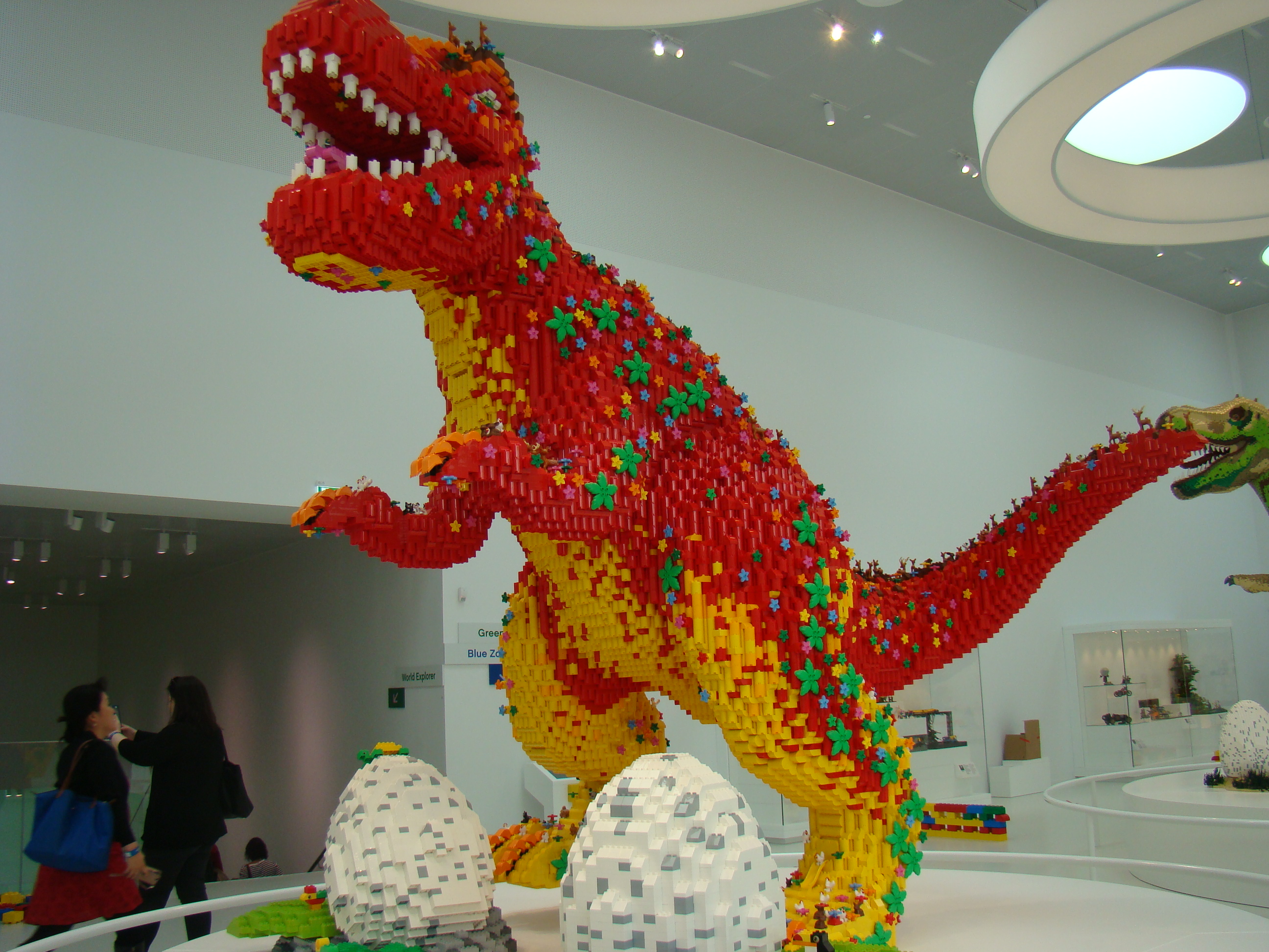 LEGO dinosaur.