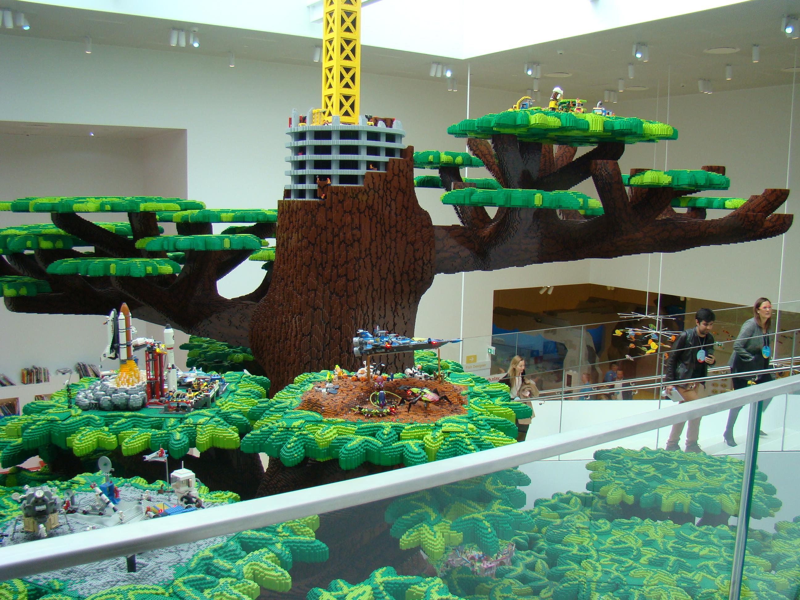 LEGO sculpture.