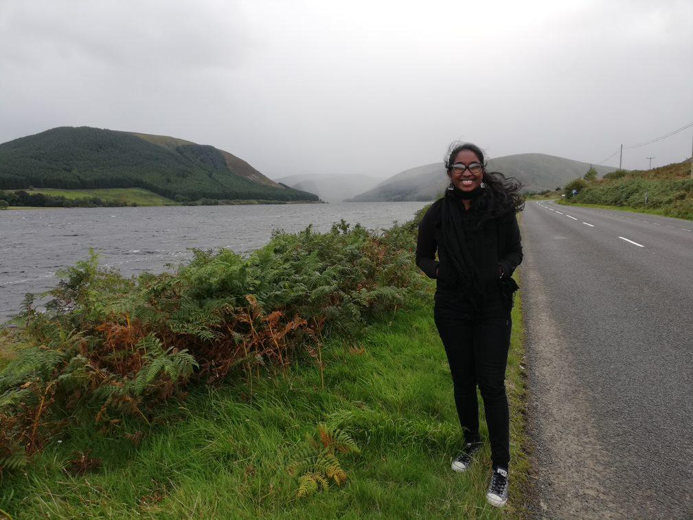 Ashinsa from Sri Lanka enjoys the Highlands.