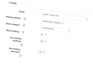 Attaching scale to an graded activity