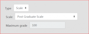 Scale attached but Maximum grade not set correctly