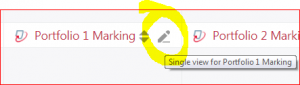 Switch to Single View of assignment