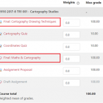 GradeBook items