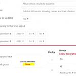 Group choice activity