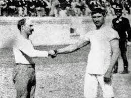 Carl Schuhmann and Georgios Tsitas at the 1896 Wrestling final (ac-wuestenrot.de)