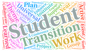 Student Transitions Word Cloud standard page