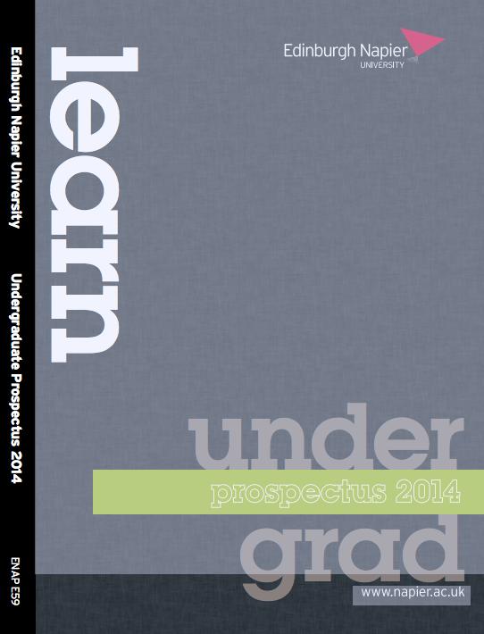 Edinburgh Napier 2013 - 2014 Undergrad Prospectus
